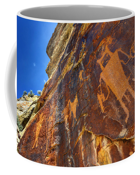 Vernal Coffee Mug featuring the photograph Mckee Springs Petroglyph - Utah by Gary Whitton