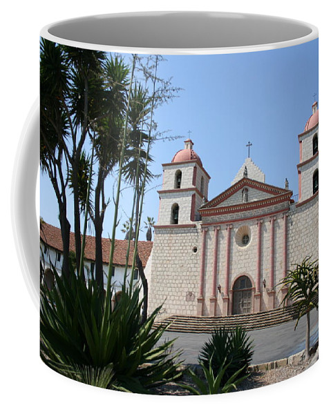 Mission Coffee Mug featuring the photograph Mission Santa Barbara by Christiane Schulze Art And Photography
