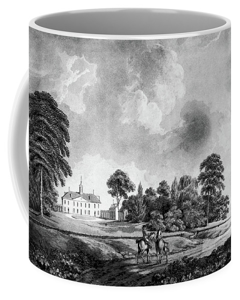 1798 Coffee Mug featuring the painting Mount Vernon, 1798 by Granger