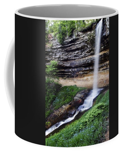 3scape Coffee Mug featuring the photograph Munising Falls by Adam Romanowicz
