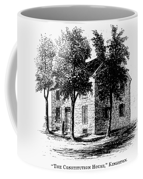 1777 Coffee Mug featuring the painting New York Senate, 1777 by Granger