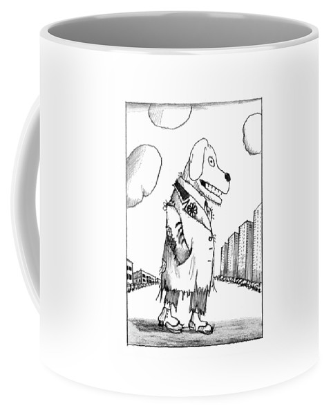 118395 Sst Saul Steinberg (drawings Depict Various Animals And Other Creatures In Egypt Coffee Mug featuring the drawing New Yorker February 23rd, 1976 by Saul Steinberg