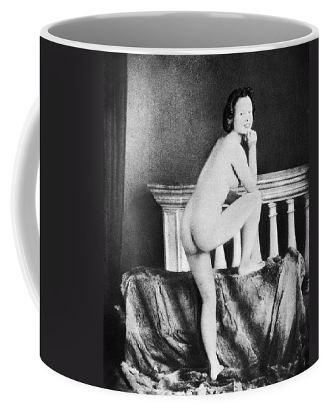 1850 Coffee Mug featuring the photograph Nude Posing, C1850 by Granger