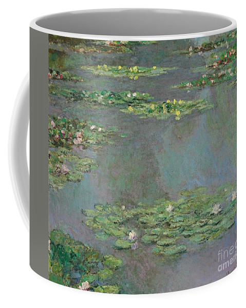 Lily Pond; Impressionist; Giverny; Blue; Flowers; Green; Lily Pad; Lily Pads; Pond; Pink; Water Lillies Coffee Mug featuring the painting Nympheas by Claude Monet