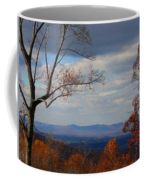 Landscape Coffee Mug featuring the photograph October View by Laura Corebello