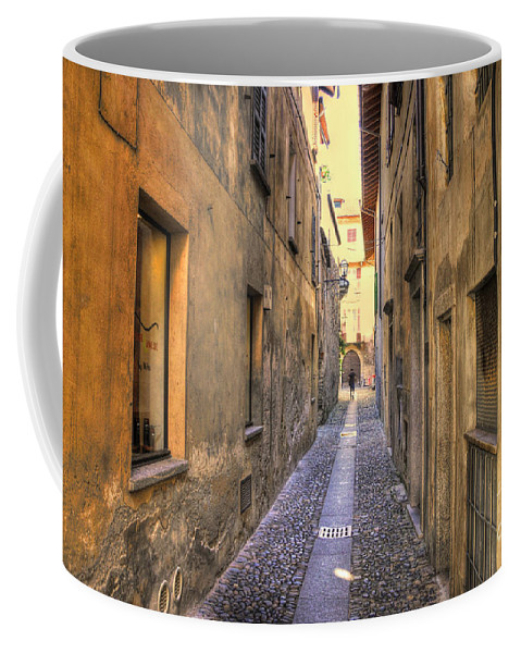 Alley Coffee Mug featuring the photograph Old Colorful Stone Alley by Mats Silvan