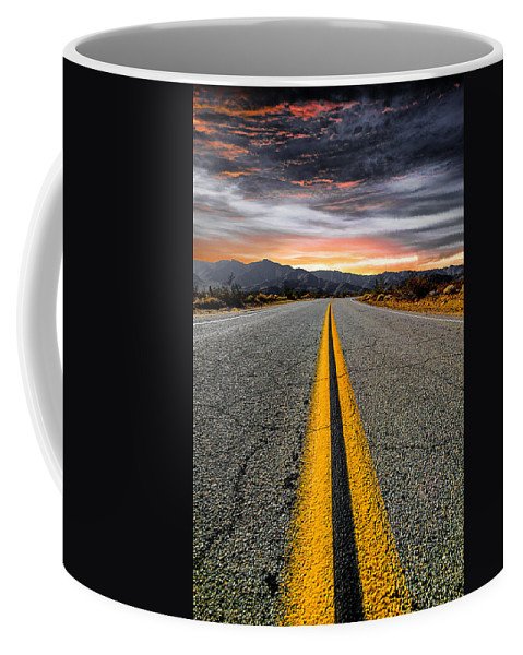 Road Coffee Mug featuring the photograph On Our Way by Ryan Weddle