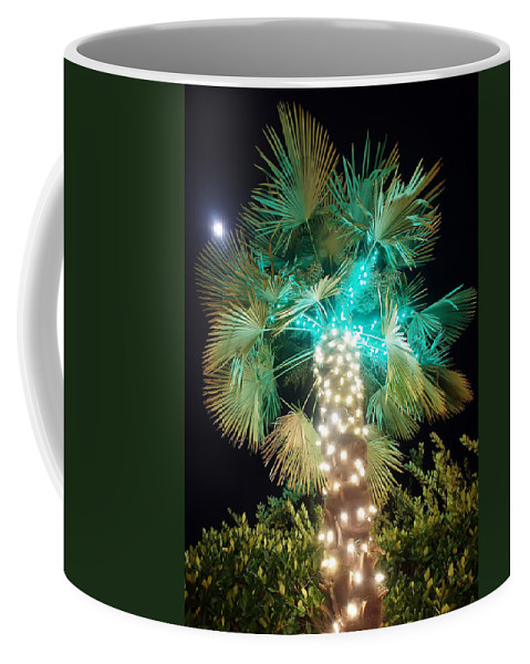 Angel Coffee Mug featuring the photograph Outdoor Christmas Decorations by Alex Grichenko