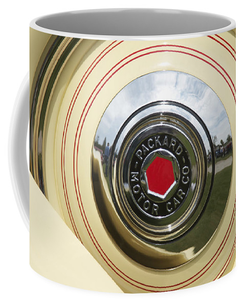 Antique Coffee Mug featuring the photograph Packard 1936-37 by Jack R Perry