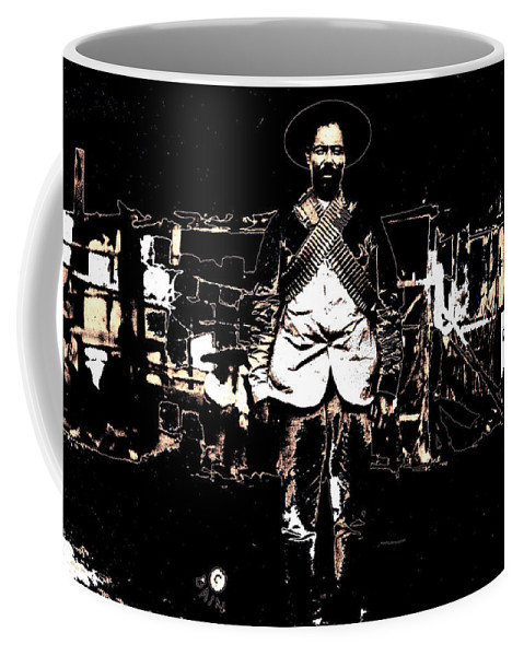 Pancho Villa With Cross Thatched Bandolier Rebel Camp No Locale Or Date Coffee Mug featuring the photograph Pancho Villa With Cross Thatched Bandolier Rebel Camp No Locale Or Date-2013 by David Lee Guss