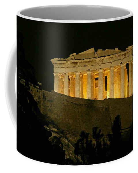 Parthenon Coffee Mug featuring the painting Parthenon by Ellen Henneke