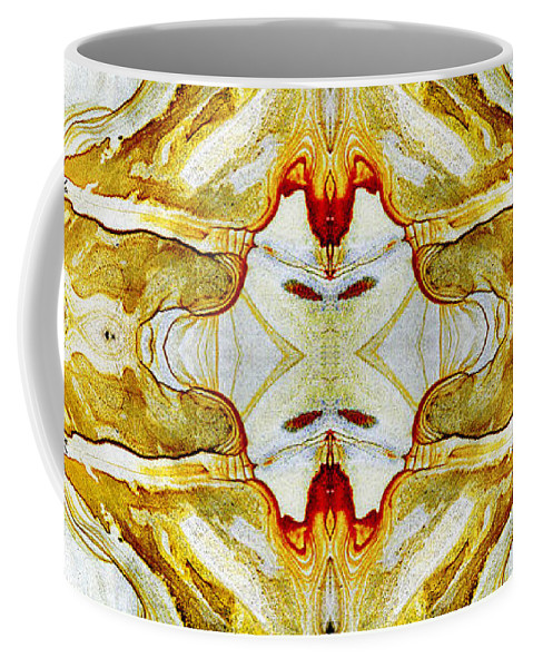 Abstract Coffee Mug featuring the photograph Patterns In Stone - 150 by Paul W Faust - Impressions of Light