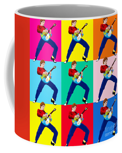 Music Coffee Mug featuring the digital art Paul Weller Wham by Neil Finnemore