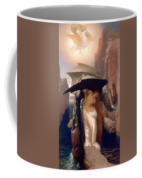 Painting Coffee Mug featuring the painting Perseus And Andromeda by Mountain Dreams
