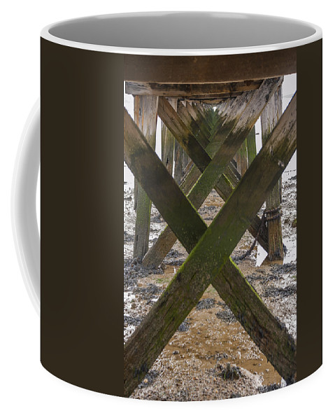 Bay Coffee Mug featuring the photograph Pier Structure by Svetlana Sewell