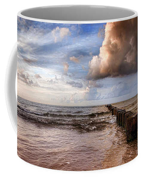 Ostsee Coffee Mug featuring the pyrography Prerow Beach by Steffen Gierok