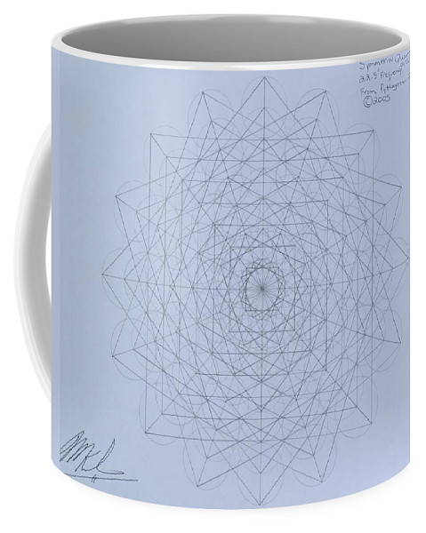 Jason Coffee Mug featuring the drawing Quantum Foam by Jason Padgett
