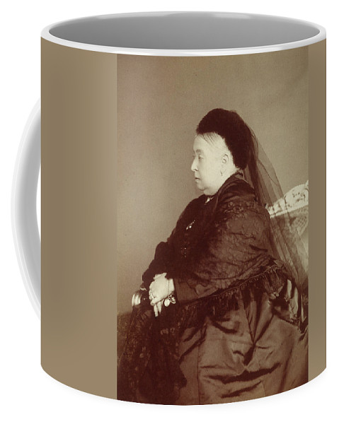 1890 Coffee Mug featuring the photograph Queen Victoria Of England (1819-1901) by Granger
