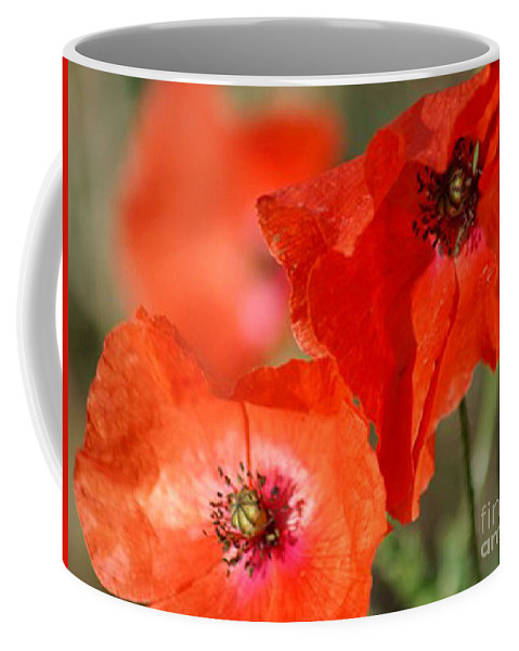 Poppies Coffee Mug featuring the photograph Red Poppies by Carol Lynch