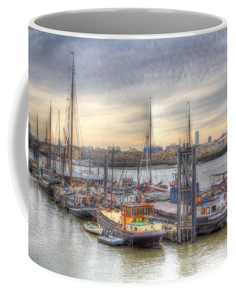 River Thames Coffee Mug featuring the photograph River Thames Boat Community by David Pyatt