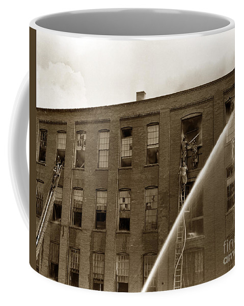 Rochester Coffee Mug featuring the photograph Rochester Show Case Co. Fire New York State Circa 1904 by California Views Archives Mr Pat Hathaway Archives