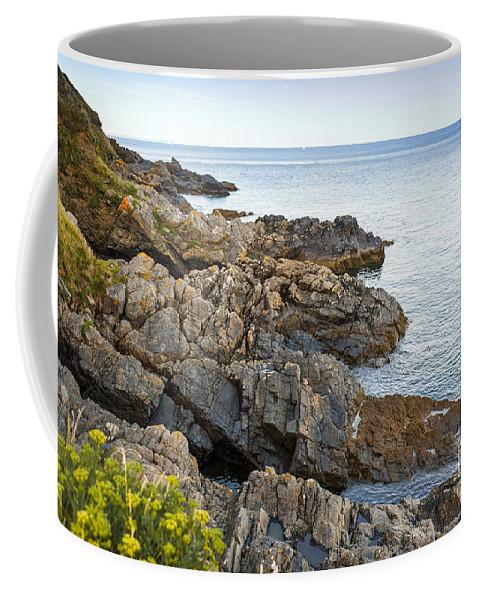 Bay Coffee Mug featuring the photograph Rocky Coast by Svetlana Sewell