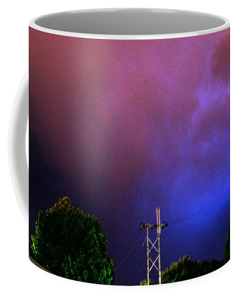 Stormscape Coffee Mug featuring the photograph Rounds 2 3 Late Night Nebraska Storms by NebraskaSC