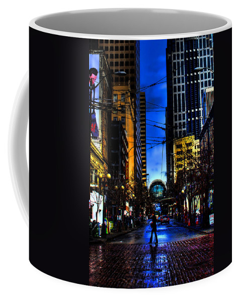 Seattle Coffee Mug featuring the photograph Seattle Streets by David Patterson