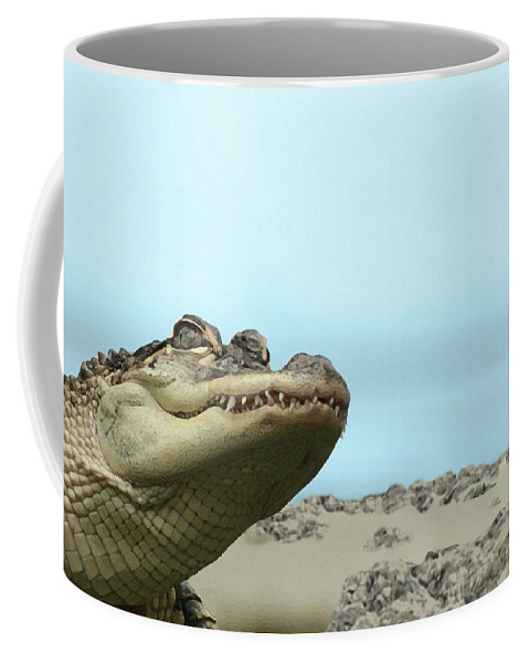 See You Later Coffee Mug featuring the painting See You Later Alligator by Ellen Henneke