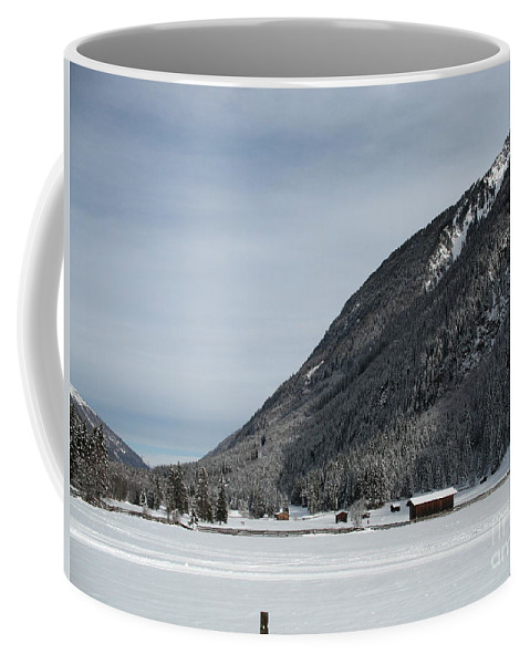 Snow Coffee Mug featuring the photograph Snowy Meadow by Christiane Schulze Art And Photography