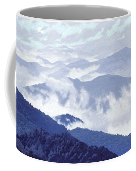 Spirit Of The Air Coffee Mug featuring the painting Spirit Of The Air by Blue Sky