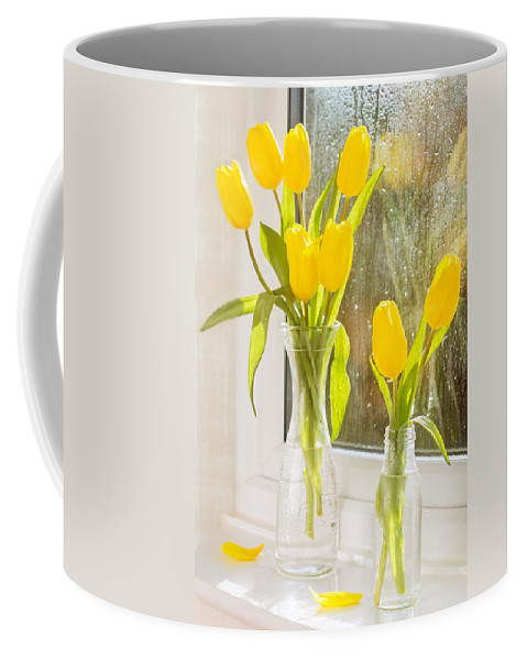 Tulips Coffee Mug featuring the photograph Spring Tulips by Amanda Elwell