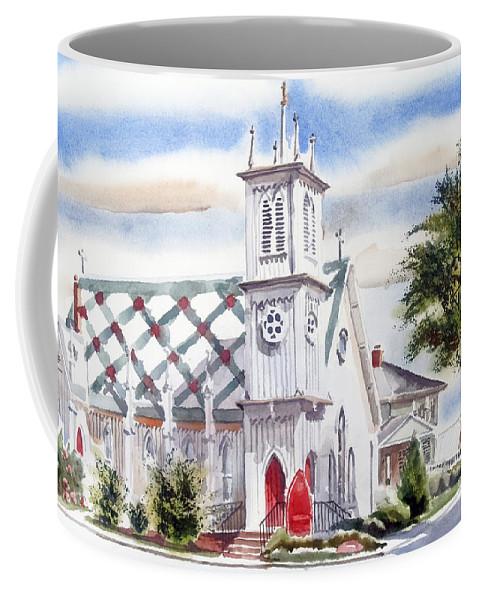 St Pauls Episcopal Church Coffee Mug featuring the painting St Pauls Episcopal Church by Kip DeVore