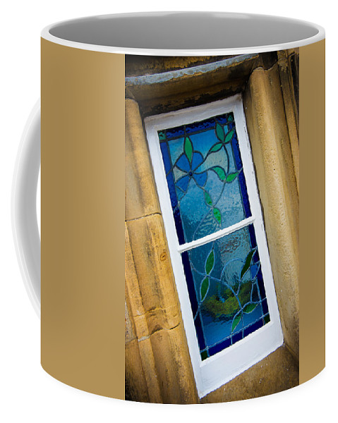 Blue Coffee Mug featuring the photograph Stained Glass Window by Mark Llewellyn