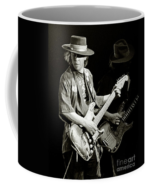 Stevie Ray Coffee Mug featuring the photograph Stevie Ray Vaughan 1984 by Chuck Spang