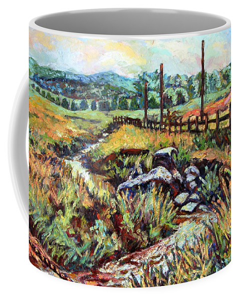 Landscape Paintings Coffee Mug featuring the painting Stroubles Creek by Kendall Kessler