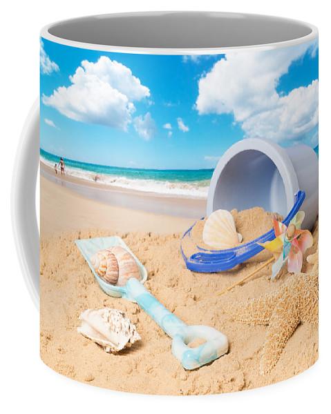 Background Coffee Mug featuring the photograph Summer Beach by Amanda Elwell