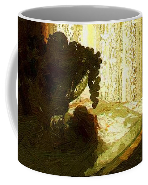 Still Life Coffee Mug featuring the painting Sunlight Through Lace by RC deWinter
