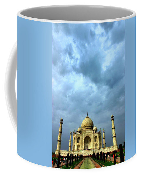 Taj Mahal Coffee Mug featuring the photograph Taj Mahal by Amanda Stadther