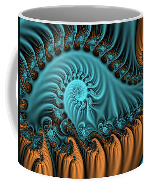 Digital Art Coffee Mug featuring the digital art Tenderness by Gabiw Art