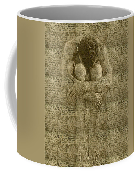 Nudes Coffee Mug featuring the photograph The Artist by Kurt Van Wagner