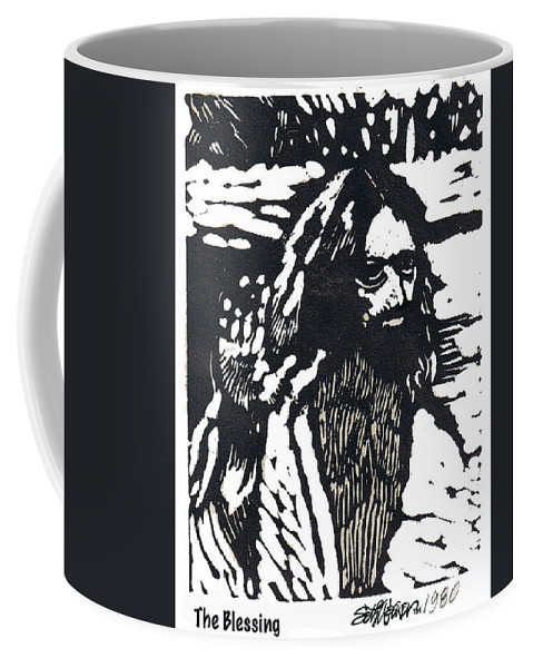 Jesus Christ Coffee Mug featuring the mixed media The Blessing by Seth Weaver