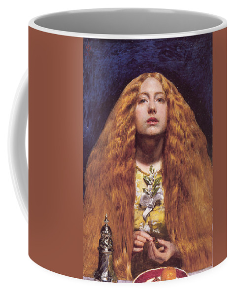 John Everett Millais Coffee Mug featuring the painting The Bridesmaid by Celestial Images