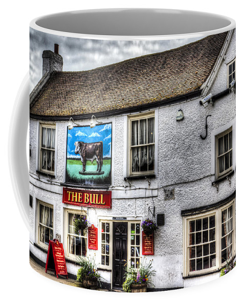 The Bull Coffee Mug featuring the photograph The Bull Pub Theydon Bois Essex by David Pyatt