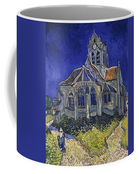 Vincent Van Gogh Coffee Mug featuring the painting The Church At Auvers by Vincent Van Gogh