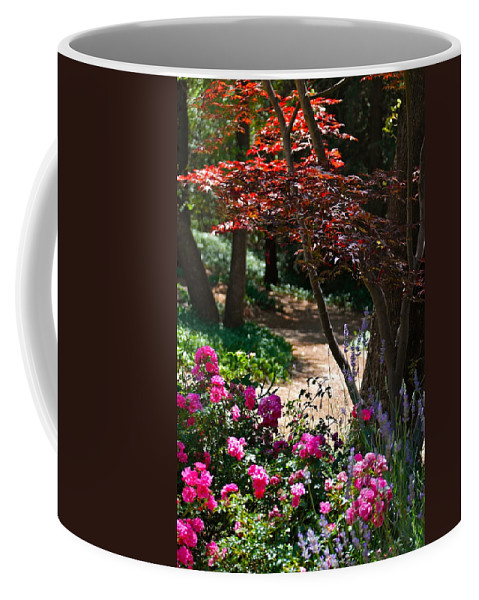 Garden Scene Coffee Mug featuring the photograph The Garden Path by Michele Myers