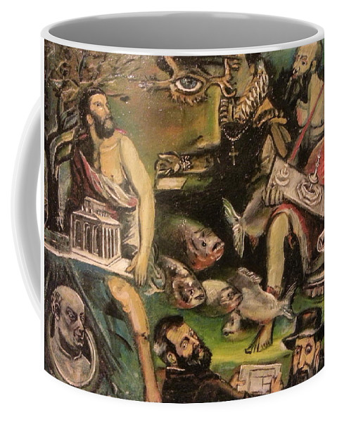 Coffee Mug featuring the painting The Great Deluge by Jude Darrien
