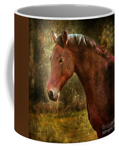 Horse Coffee Mug featuring the photograph The Horse Portrait by Angel Tarantella