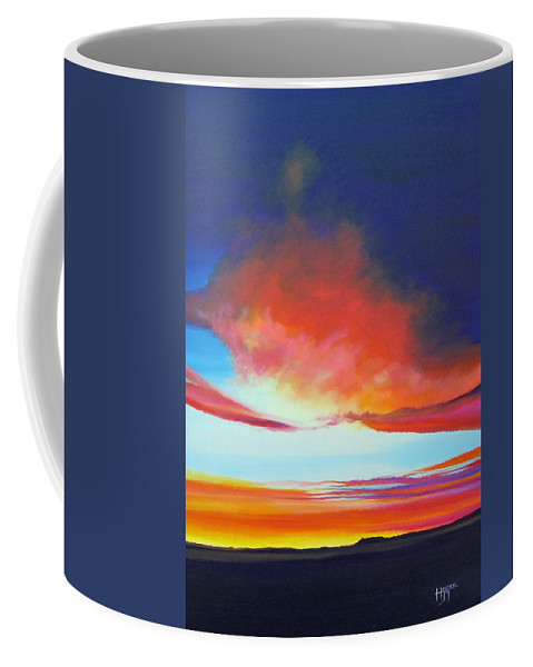 Landscape Coffee Mug featuring the painting The Long Way Home by Hunter Jay