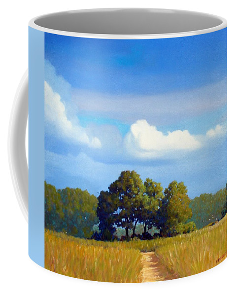 Landscape Coffee Mug featuring the painting The Path by Kevin Lawrence Leveque